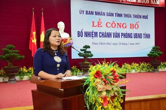 Bà Trần Thị Hoài Trâm làm Chánh Văn phòng UBND tỉnh Thừa Thiên Huế  ảnh 1