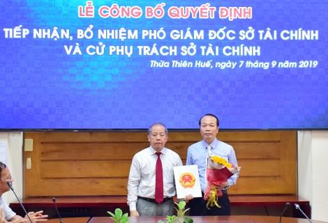 Bổ nhiệm Phó Chủ nhiệm Ủy ban Kiểm tra Tỉnh ủy Thừa Thiên - Huế làm Phó Giám đốc Sở Tài chính ảnh 1