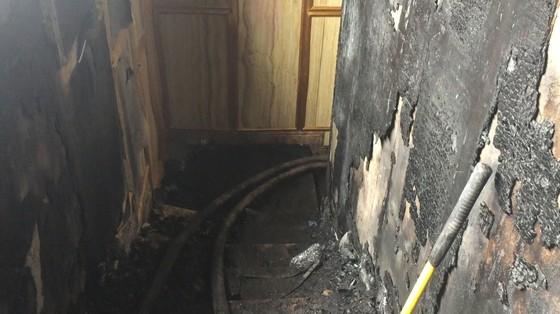 Hiện trường tan hoang của vụ cháy Karaoke Kingom Club ở Hà Tĩnh ảnh 2