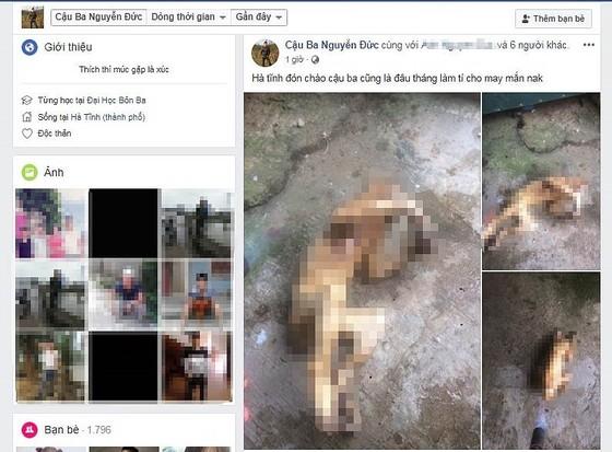 Lại xuất hiện hình ảnh cá thể nghi khỉ bị giết hại rồi đăng Facebook gây phẫn nộ ảnh 1