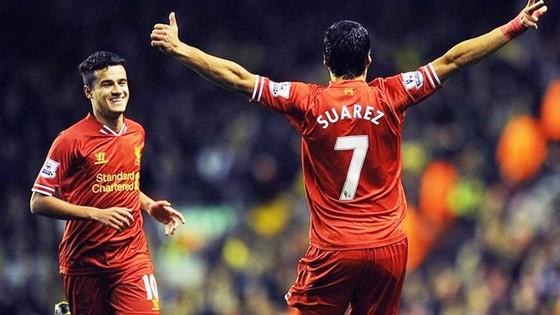 Suarez và Coutinho khi còn thi đấu cho Liverpool. Ảnh: Getty Images