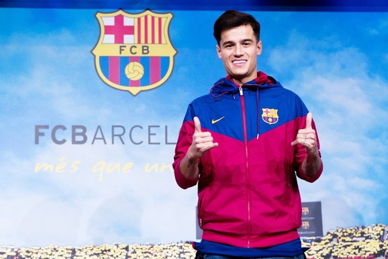 Coutinho ra mắt Barca. Ảnh: Getty Images
