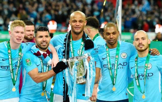 Những ngôi sao hàng đầu của Man.City có thể bỏ túi 1 triệu bảng nếu thắng cú ăn ba. Ảnh: Getty Images