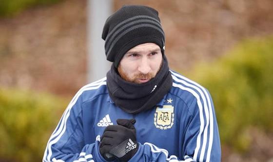 Messi đã không thể tập luyện của tuyển Argentina. Ảnh: Getty Images