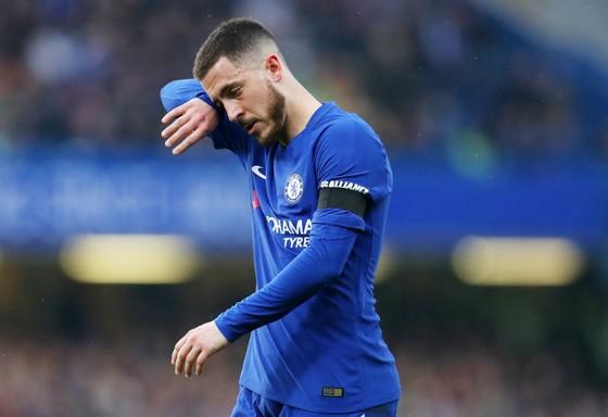 Eden Hazard không hài lòng khi chất lượng đội hình của Chelsea sa sút. Ảnh: Getty Images