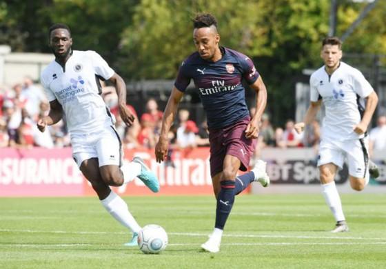 Pierre Emerick Aubameyang ghi 3 bàn cho Arsenal, hứa hẹn sẽ là chân sút nguy hiểm nhất mùa giải mới. Ảnh: Getty Images
