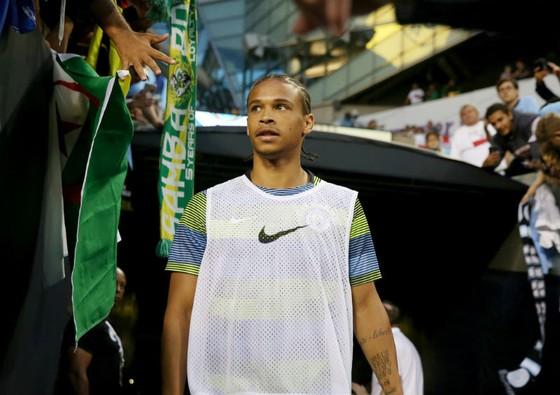 Leroy Sane lạc quan cùng Man.City hướng về mùa giải mới. Ảnh: Getty Images