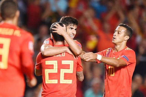 Các cầu thủ Real đã có ngày thi đấu hoàn hảo trong màu áo tuyển Tây Ban Nha. Ảnh Getty Images.