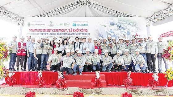 Hòa Bình khởi công Dự án Midori Park The View trị giá hơn 500 tỷ đồng  ảnh 1