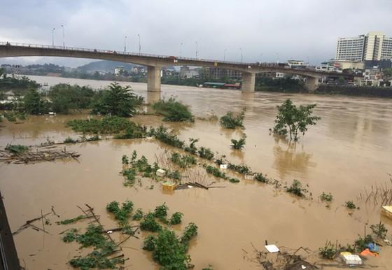 Thành phố Lào Cai xuất hiện lũ lớn bất thường trong mùa Đông ảnh 2
