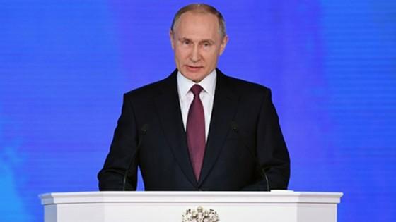 Tổng thống Nga Vladimir Putin đọc Thông điệp liên bang ảnh 1