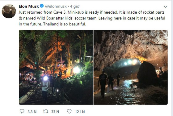 Tàu ngầm mini của tỷ phú Elon Musk đã sẵn sàng giải cứu đội bóng mắc kẹt trong hang Tham Luang ảnh 1