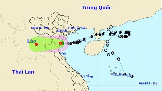 Bão số 4 đi vào đất liền Thanh Hóa và suy yếu thành áp thấp nhiệt đới, Bắc Bộ và Bắc Trung Bộ mưa to ảnh 1