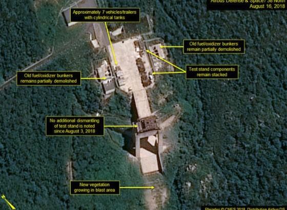 """38 North: Triều Tiên """"dường như"""" đã dừng tháo dỡ bãi thử nghiệm động cơ tên lửa Sohae ảnh 2"""