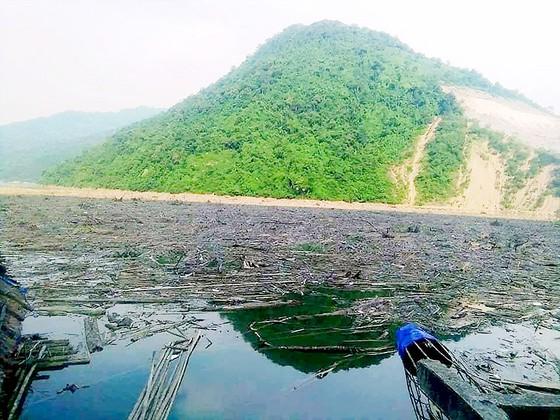 Rác ngập hồ thủy điện Bản Vẽ ảnh 1