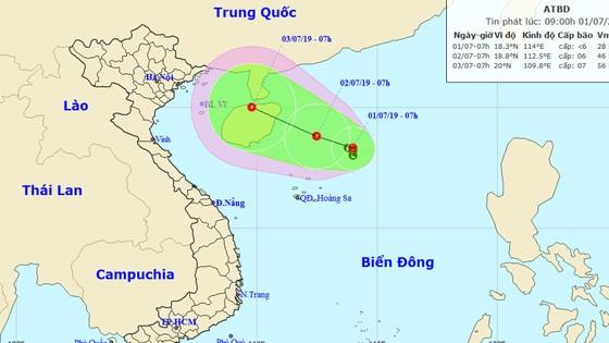 Vùng áp thấp có khả năng mạnh lên thành áp thấp nhiệt đới vào sáng 2-7 ảnh 1