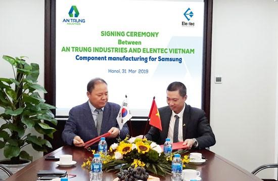 An Phát Holdings trở thành nhà cung cấp của Samsung ảnh 1