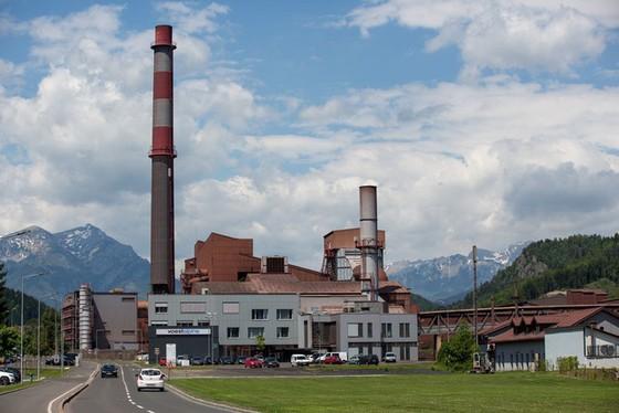 Hình ảnh nhà máy khi nhìn từ bên ngoài