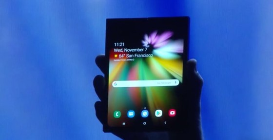 1. In November 2018, Samsung teased its foldable smartphone concept.