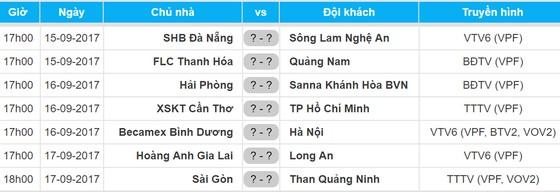 Lịch vòng 18 - Toyota V.League 2017 (15 đến 17-9) ảnh 1