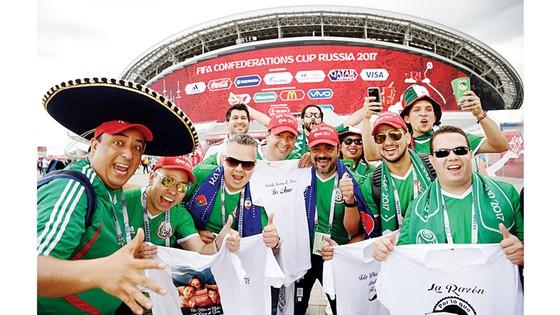 Người hâm mộ Mexico trước một trận đấu tại Confederations Cup 2017