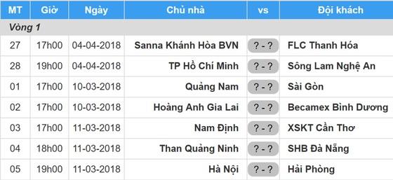 Lịch thi đấu vòng 1 - V.League 2018-2019: Hoàng Anh Gia Lai tiếp Bình Dương ảnh 1