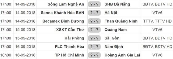 Lịch thi đấu vòng 22 Nuti Cafe V.League 2018: TPHCM gặp Hoàng Anh Gia Lai ảnh 1
