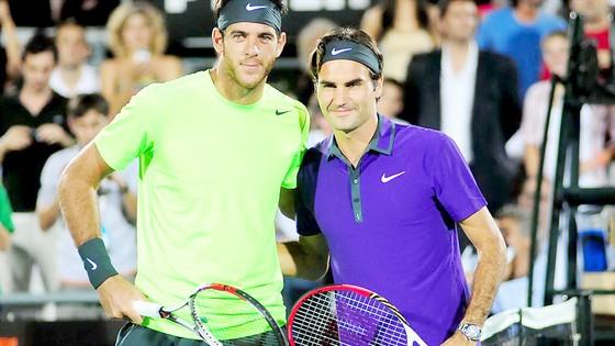 Del Portro (trái) là thách thức lớn nhất của Federer