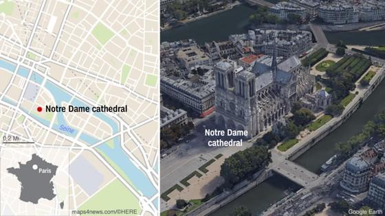 Cháy lớn tại Nhà thờ Đức Bà hơn 850 năm tuổi ở Paris ảnh 11