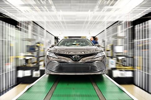 Toyota Camry 2018 sản xuất tại Mỹ có cấu trúc khung sườn mới - ảnh 1