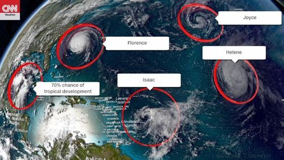Siêu bão Florence là một trong chuỗi 9 cơn bão đang hoạt động trên thế giới ảnh 4
