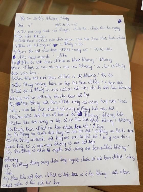 Vụ 231 cái tát: Nhà trường buộc học sinh viết lời khai ảnh 1