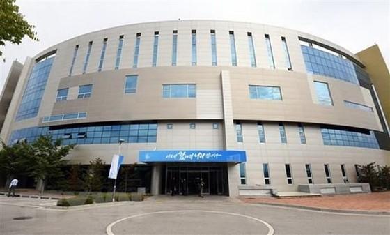 Văn phòng Liên lạc liên Triều trong ngày khai trương tại thị trấn Kaesong của Triều Tiên. Ảnh: Yonhap/TTXVN