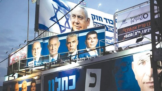 Poster các ứng viên của cuộc bầu cử
