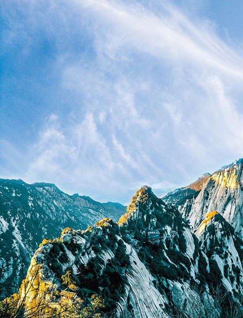 Kỳ vĩ Hoa Sơn đại núi ảnh 1
