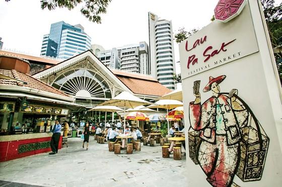 Chợ Xóm Chiếu nhìn từ Lau Pa Sat Singapore ảnh 1