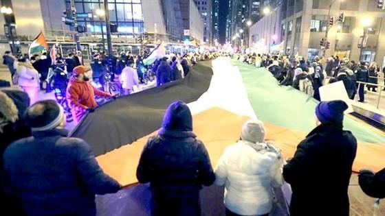 Người Palestine ở Chicago tuần hành phản đối quyết định dời đại sứ quán Mỹ tới Jerusalem