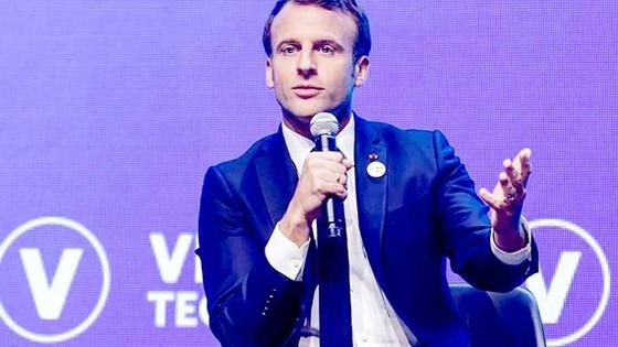 Tổng thống Pháp Emmanuel Macron phát biểu tại Hội chợ VivaTech Paris 2019