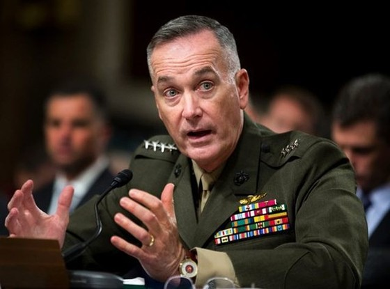 Tướng Joseph Dunford, Chủ tịch Hội đồng Tham mưu trưởng Liên quân Mỹ (Ảnh: Reuters)