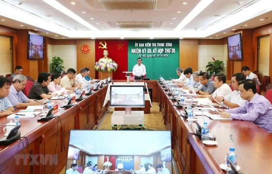 Ông Trần Cẩm Tú, Bí thư Trung ương Đảng, Chủ nhiệm Ủy ban Kiểm tra Trung ương chủ trì kỳ họp. (Ảnh: Phương Hoa/TTXVN)