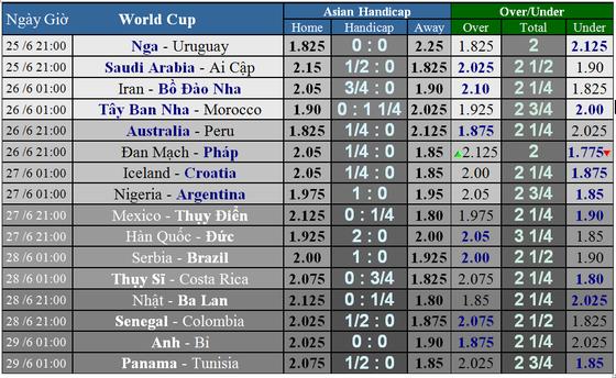 Trước giờ bóng lăn: Lịch thi đấu World Cup 2018 ngày 25-6 ảnh 1