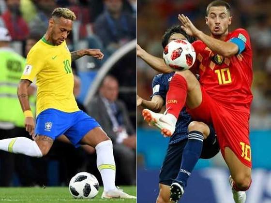 Neymar (Brazil) và Eden Hazard (Bỉ)