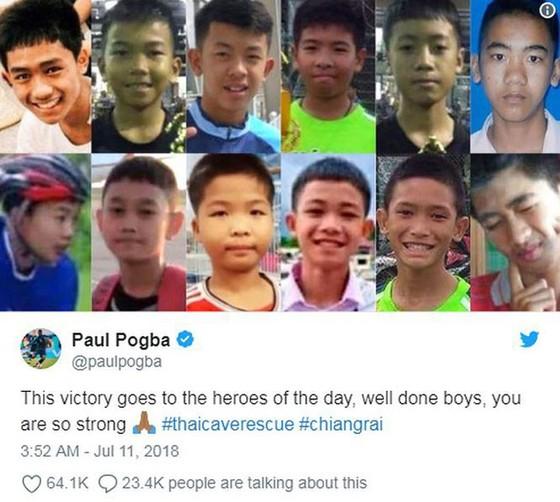 Paul Pogba dành chiến thắng cho các cầu thủ nhí Thái Lan ảnh 1