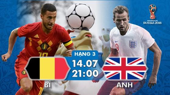 Lịch thi đấu World Cup 2018: Tranh hạng 3, Bỉ - Anh  (Mới cập nhật)