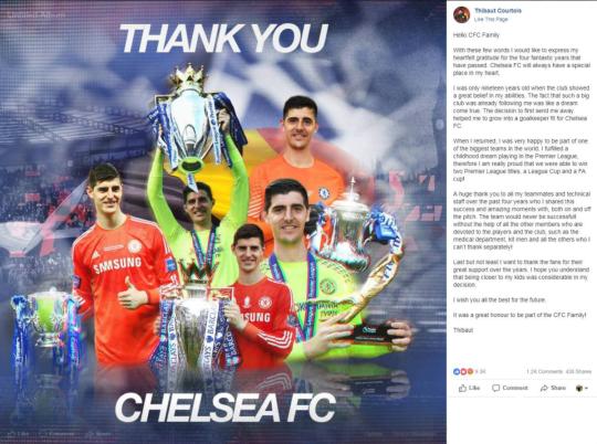 Fan The Blues trút cơn giận dữ, Courtois phải xóa bức thư từ biệt Chelsea  ảnh 1