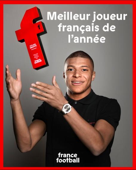 Kylian Mbappe qua mặt Griezmann để đoạt giải Cầu thủ Pháp xuất sắc nhất năm 2018 ảnh 1