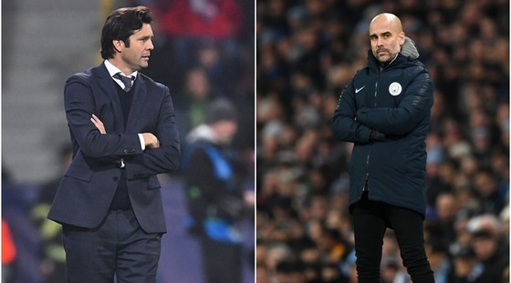 Santiago Solari (Real Madrid) và Pep Guardiola (Manchester City)