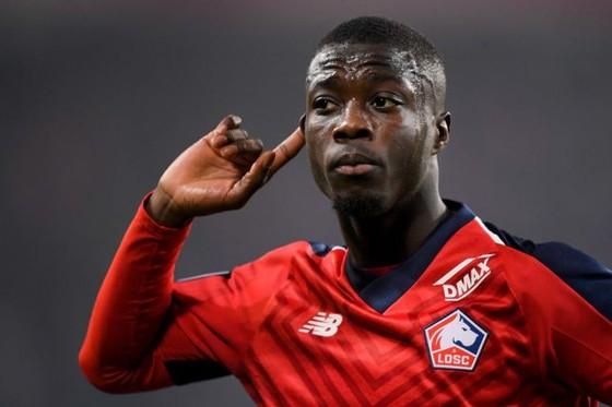 Nicolas Pepe trong màu áo Lille.