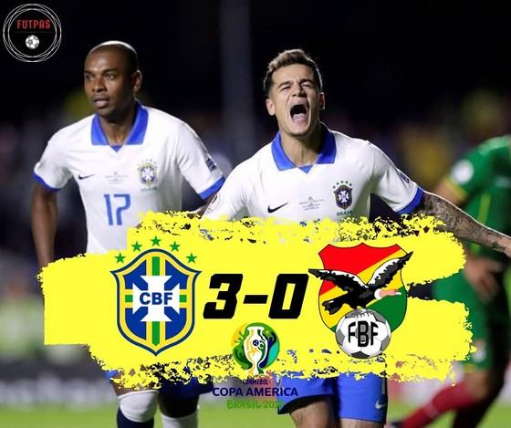 Brazil - Bolivia 3-0: Coutinho ghi cú đúp, Everton lập siêu phẩm