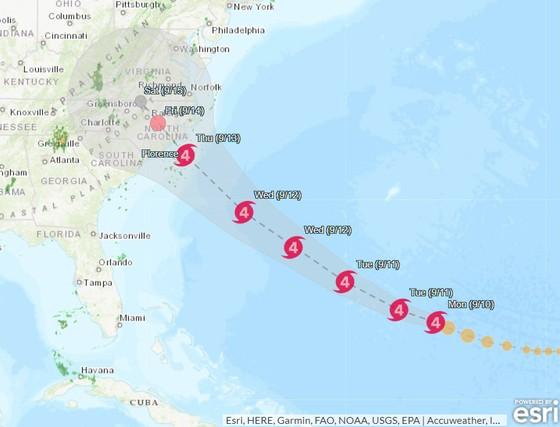 Siêu bão Florence chuẩn bị đổ bộ Hoa Kỳ  ảnh 1